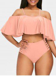 Tiered Adjustable Strap Bikini Set -