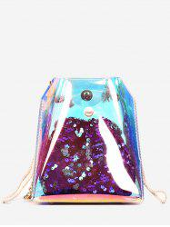 Metal Chain Sequins Lucid Jelly Crossbody Bag -
