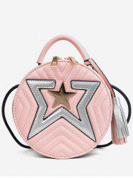 Chic Tassels Stars Top Handle Crossbody Bag -