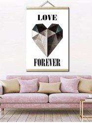 Love Heart Print Wall Hanging Canvas Art Painting -