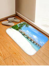 Beachside Cabins Trees Print Antiskid Floor Area Rug -