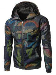 Two-pocket Camo Pattern Hoodie Jacket -