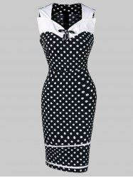 Retro Polka Dot Mini Dress -