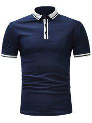 Stripe Trim Short Sleeve T-shirt -