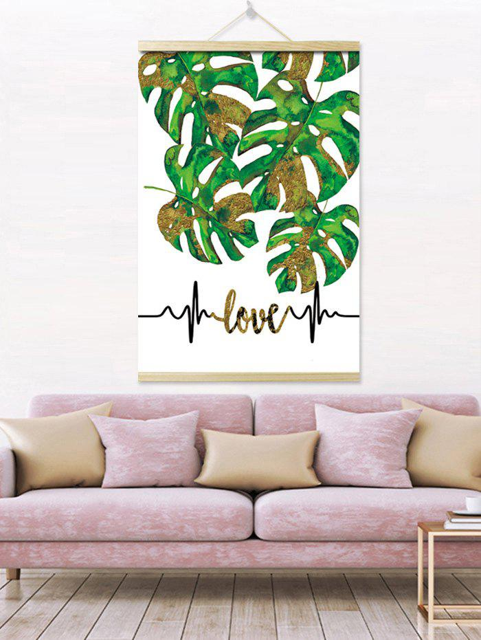 Chic Tropical Leaves Print Wall Hanging Canvas Art Painting