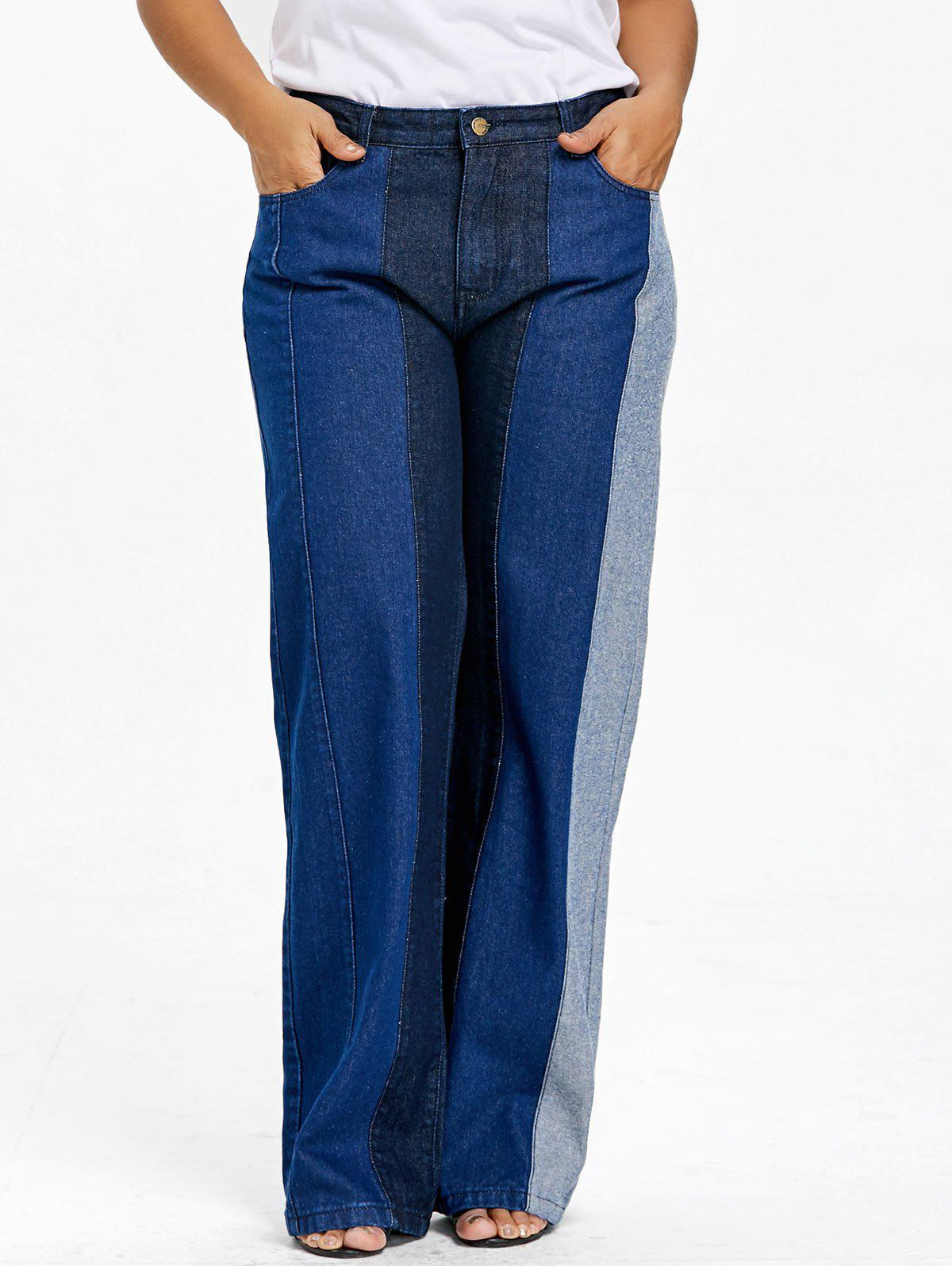 Shops Plus Size Wide Leg Denim Pants