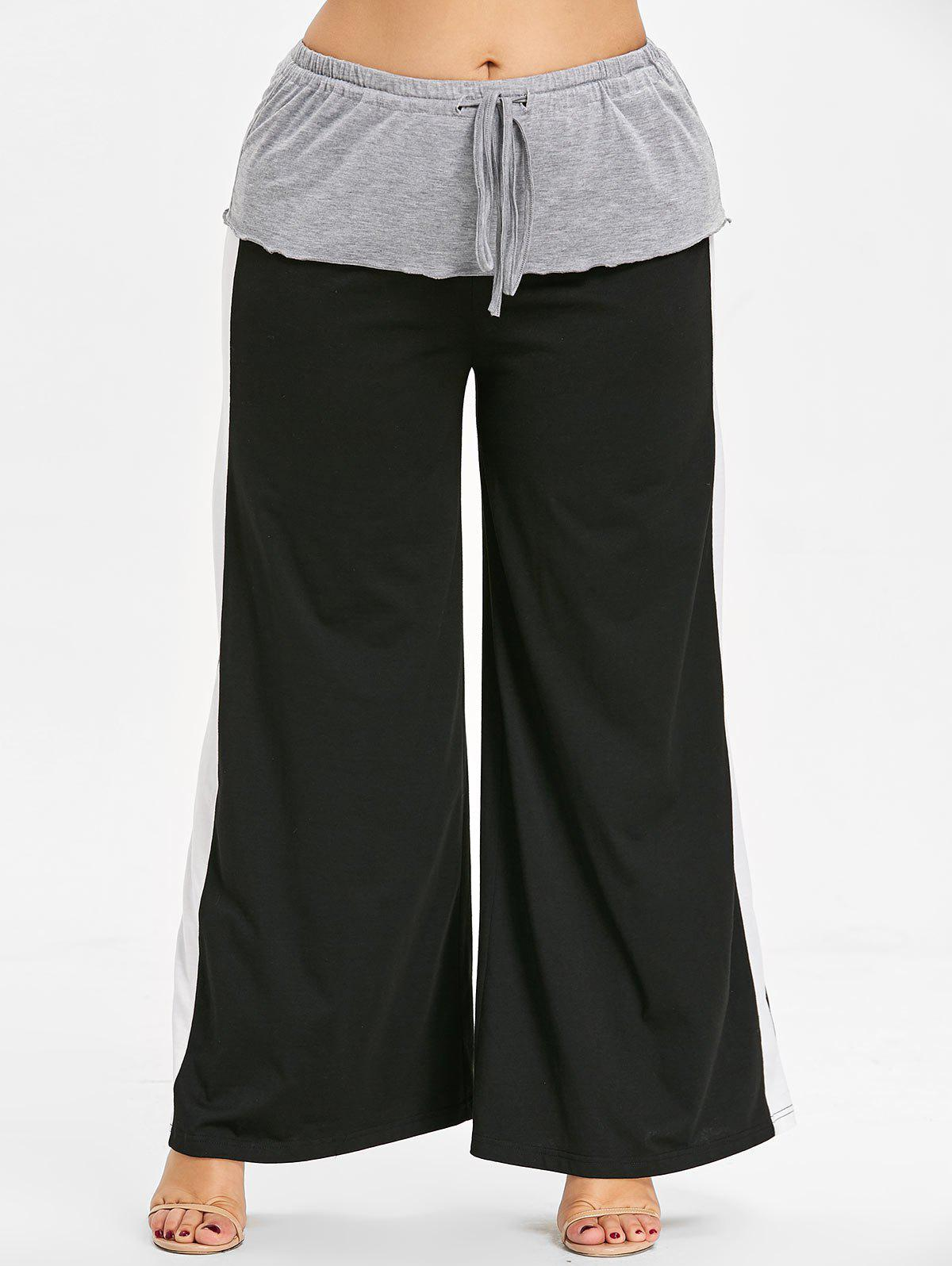 Online Layered Plus Size Wide Leg Pants