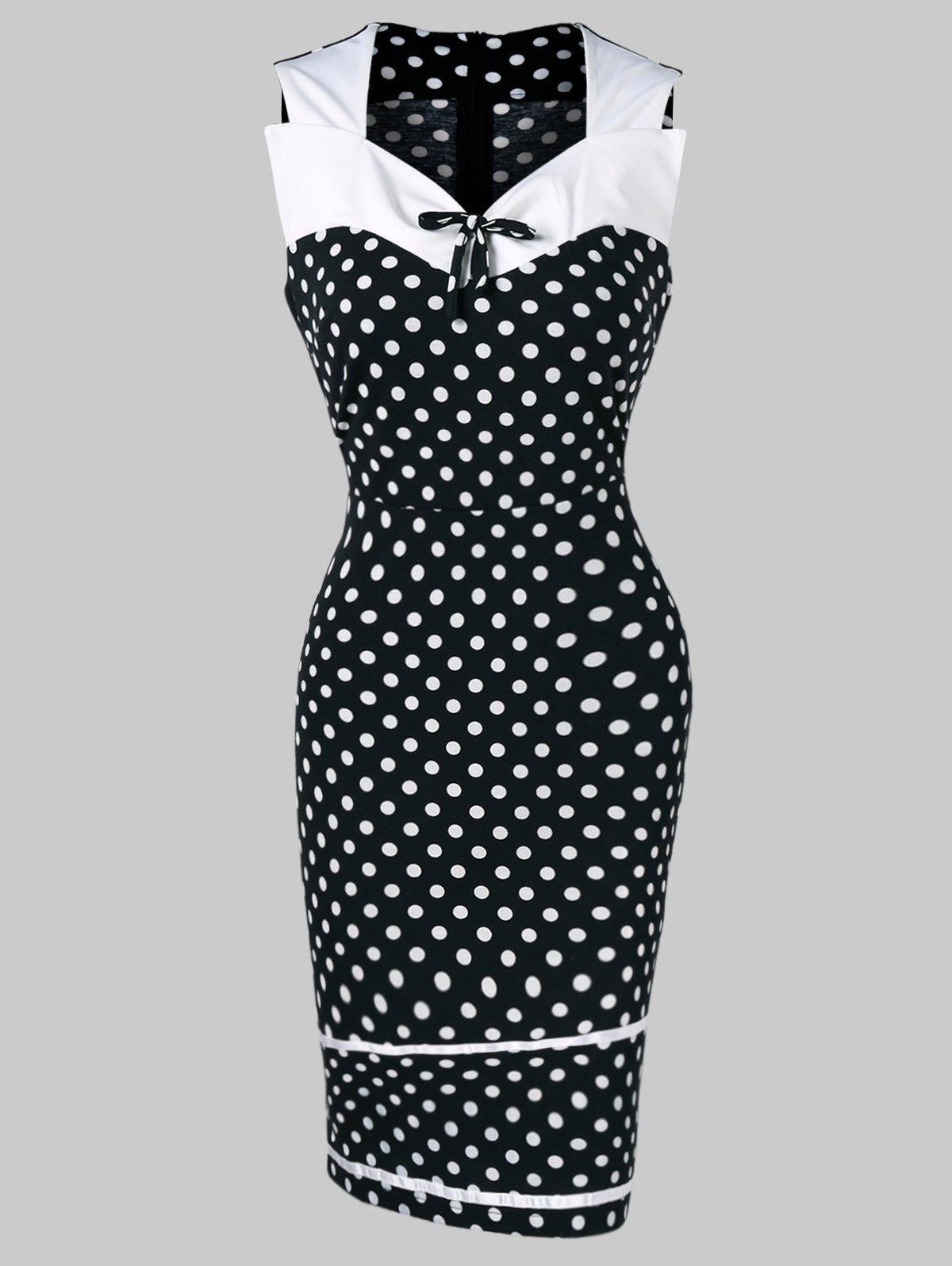 Affordable Retro Polka Dot Mini Dress