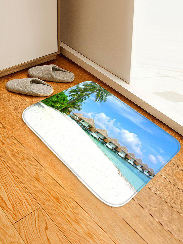 Latest Beachside Cabins Trees Print Antiskid Floor Area Rug