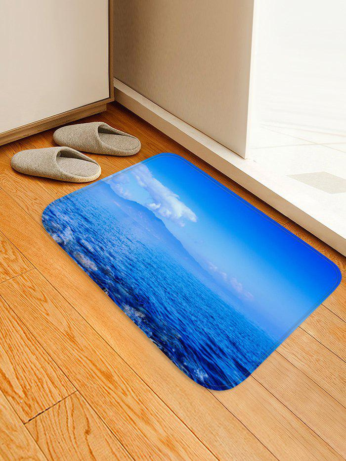 Outfits Natural Sky Sea Print Non Slip Floor Rug