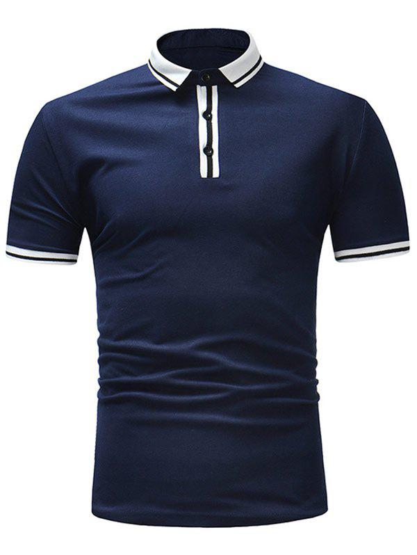 New Stripe Trim Short Sleeve T-shirt
