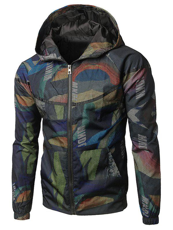 Sale Two-pocket Camo Pattern Hoodie Jacket