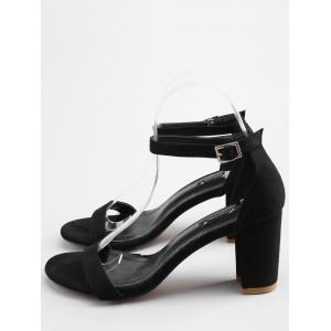 Chunky Heel Leisure One Strap Ankle Strap Sandals -