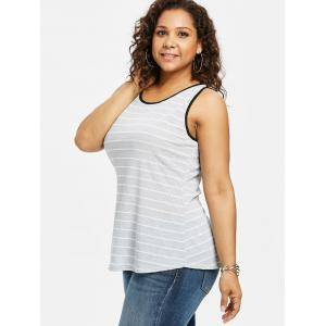 Плюс Размер Twist Cutout Striped Tank Top -