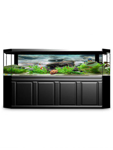 Hot Underwater Stones Print Aquarium Background Decor Sticker