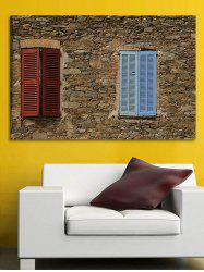 Stone House Window Print Wall Sticker for Bedrooms -