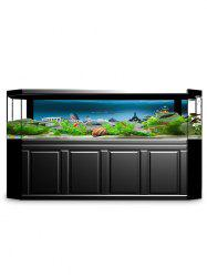 Underwater City Print Aquarium Fish Tank Background Decor Sticker -
