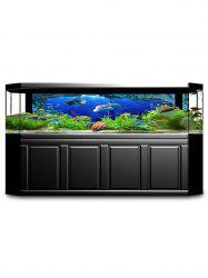 Underwater Fish Print Fish Tank Background Decor Sticker -