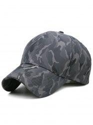 Outdoor Camo Printed Adjustable Trucker Hat -
