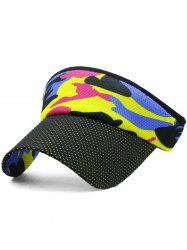 Outdoor Camo Printed Open Top Sunscreen Hat -