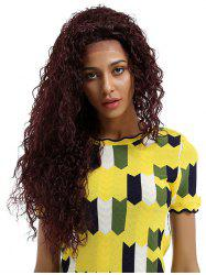 Long Free Part Deep Wave Party Synthetic Lace Front Wig -