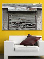 Broken Door Print Wall Sticker for Bedrooms -