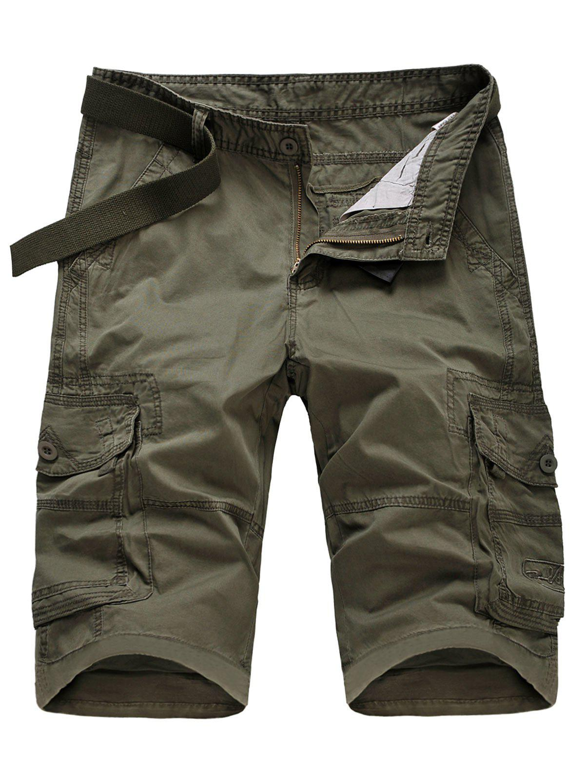 Outfits Casual Flap Pockets Zipper Fly Cargo Shorts