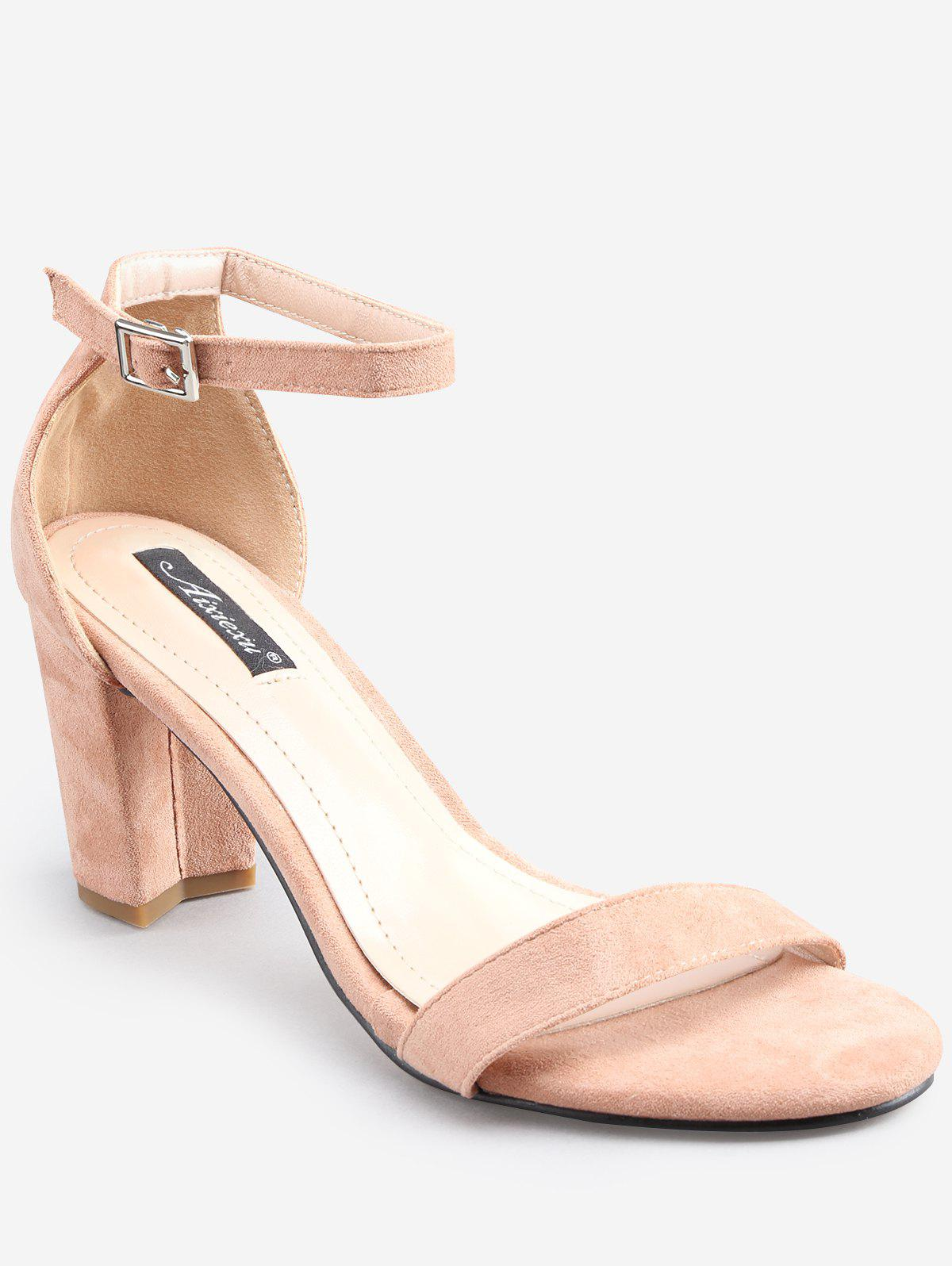 f377a38e7 2019 Chunky Heel Leisure One Strap Ankle Strap Sandals