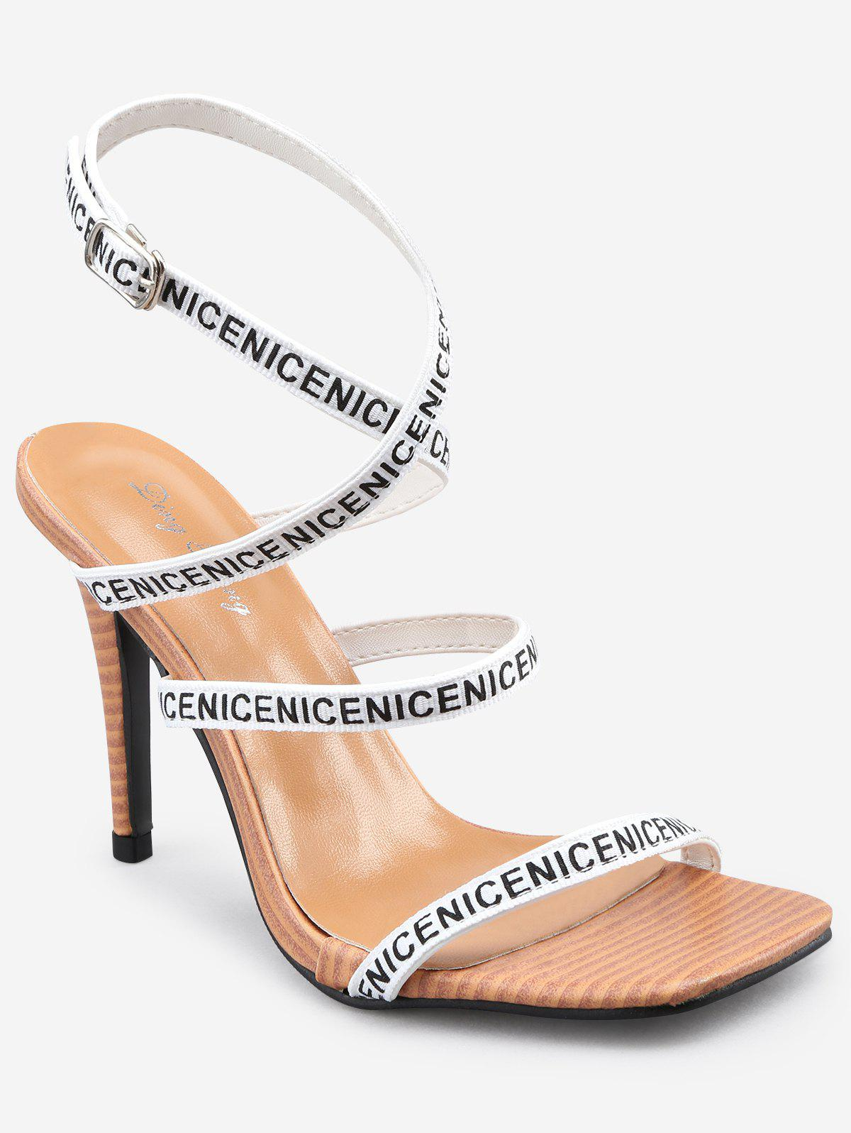 Cheap Sale Best Seller Stiletto Heel Chic Cross Strap Party Sandals - WHITE Outlet With Credit Card Latest Collections Cheap Online YVHnw5