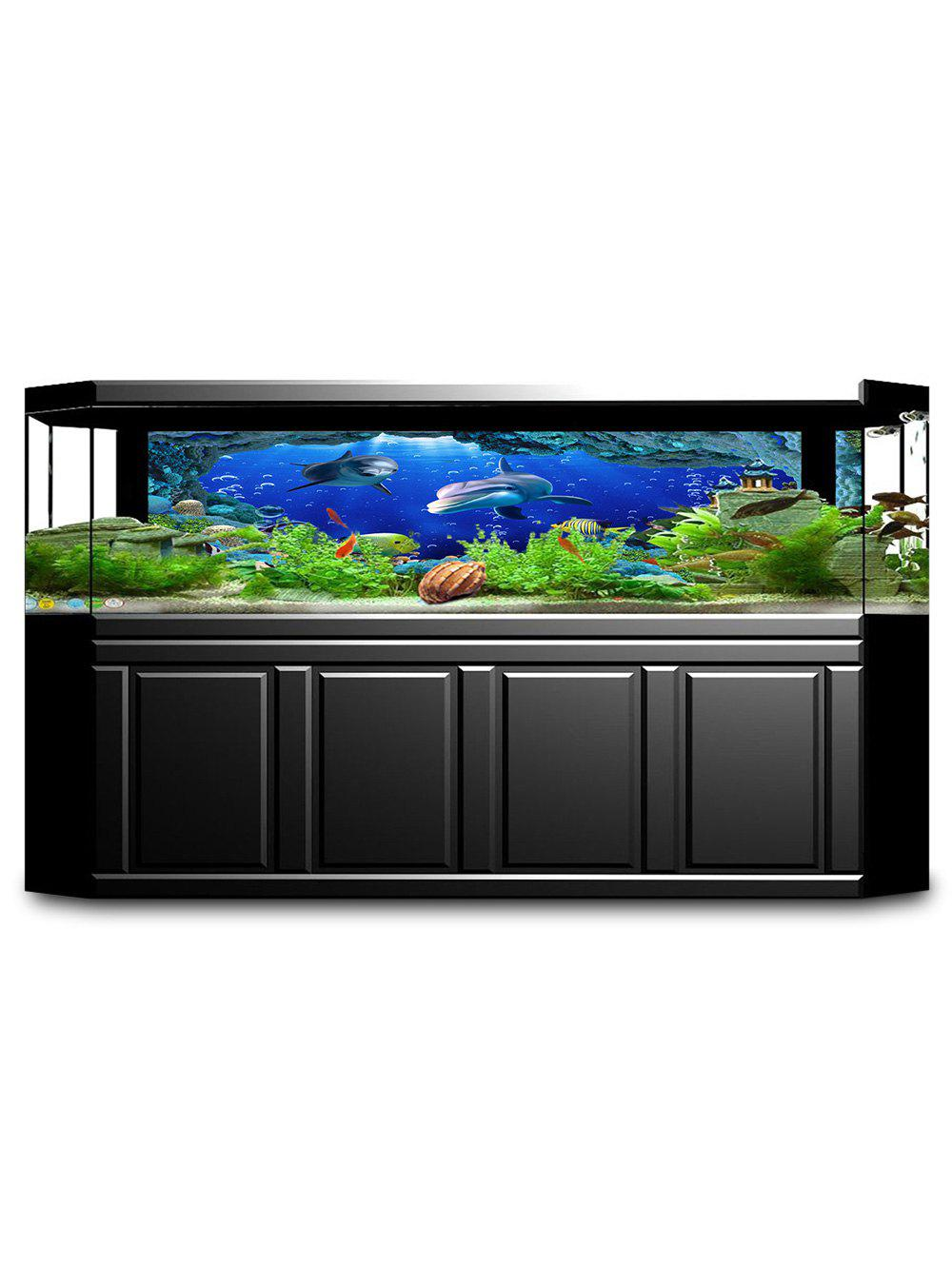 Outfit Underwater Fish Print Fish Tank Background Decor Sticker