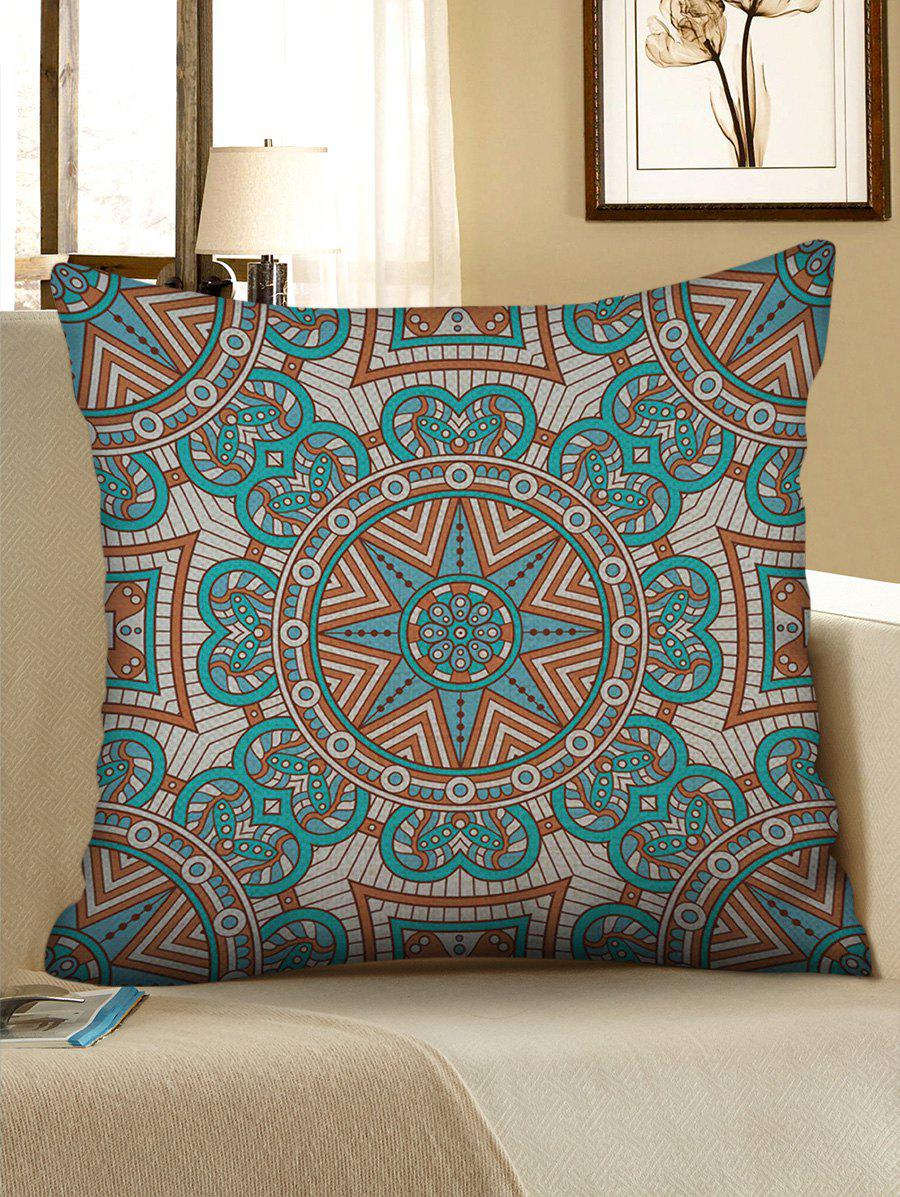 Affordable Mandala Print Linen Decorative Sofa Pillowcase