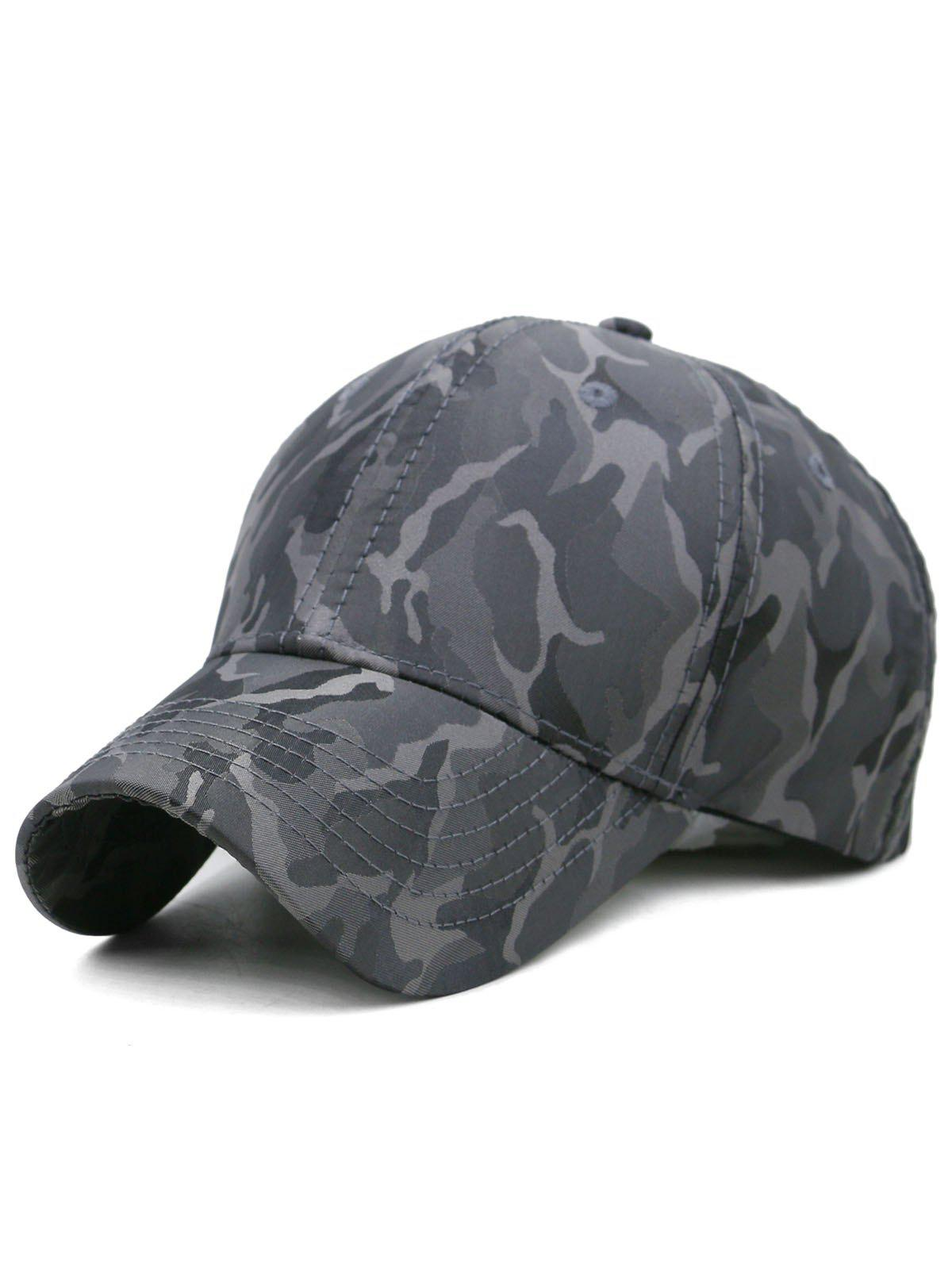 Chic Outdoor Camo Printed Adjustable Trucker Hat