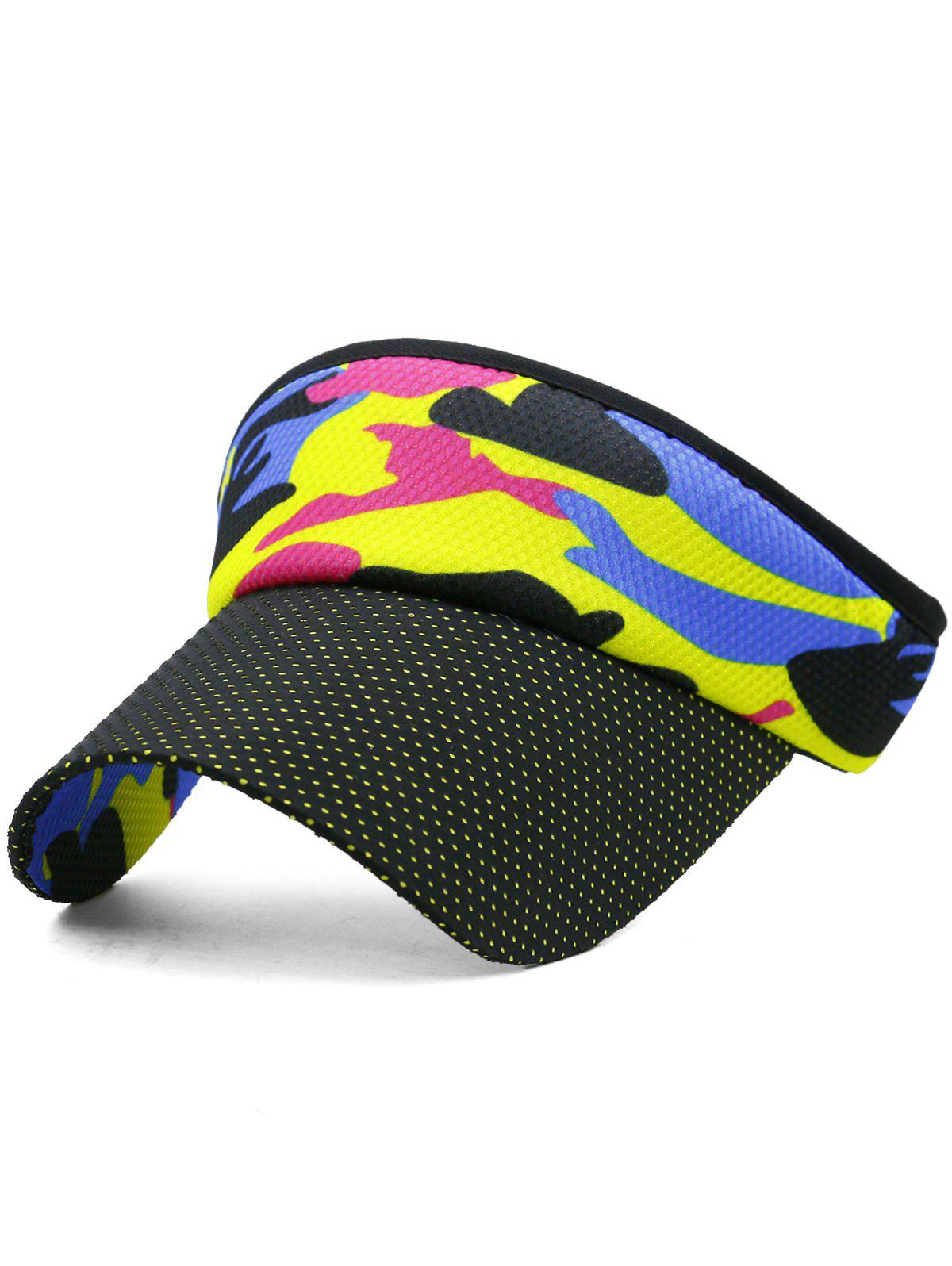 Hot Outdoor Camo Printed Open Top Sunscreen Hat