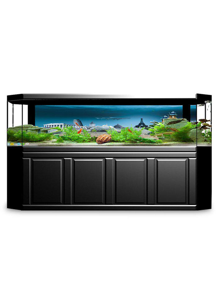 Discount Underwater City Print Aquarium Fish Tank Background Decor Sticker