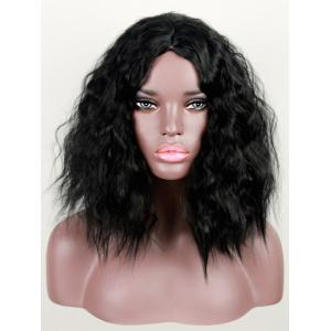 Medium Center Parting Corn Hot Wavy Synthetic Wig -
