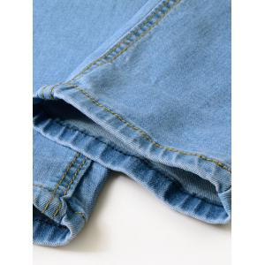 Zipper Fly Scratches Hole Jeans -