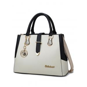 Heart Pendant Metallic Causal Handbag -