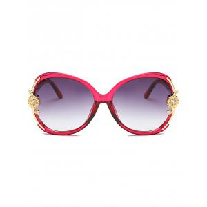 Anti Fatigue Carving Floral Oversized Sunglasses -