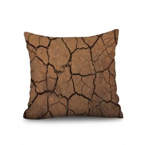 Cracked Ground Print Decorative Linen Sofa Pillowcase -