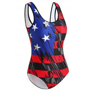 One Piece American Flag Bathing Suit -