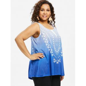 Printed Plus Size Ombre Tank Top -