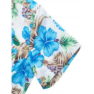 Casual Flower Leaf Print Shirt -