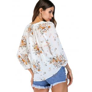 Bow Tie Floral Print Summer Blouse -