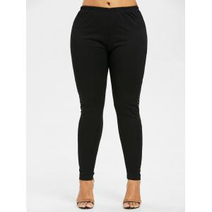 High Waisted Hollow Out Plus Size Leggings -