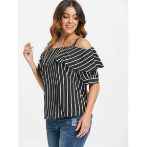 Ruffle Cold Shoulder Top -