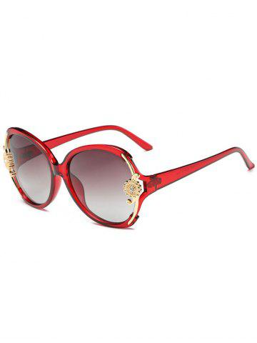 Discount Anti Fatigue Carving Floral Oversized Sunglasses