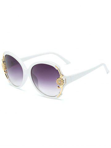 Shop Anti Fatigue Carving Floral Oversized Sunglasses