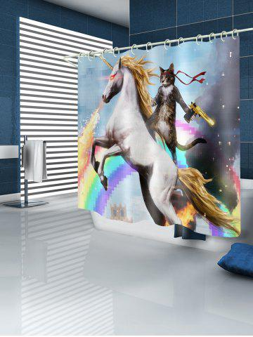 Discount Cat Unicorn Rainbow Waterproof Bath Curtain
