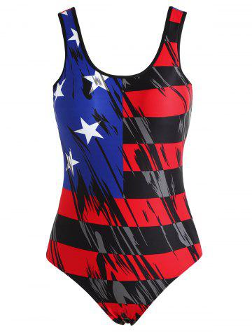 Store One Piece American Flag Bathing Suit