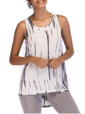Ombre Print Casual Sleeveless Top